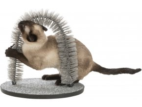 Zábavný obloukový masážní kartáč pro kočky 36x33 cm