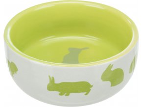 Keramická miska pro králíky barevná 250 ml, 11 cm