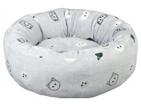 Pelíšek MIMI se snímatelným potahem 50 cm světle šedý