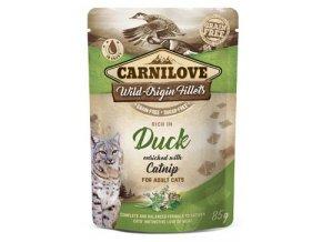 Carnilove kuře a kachna s catnipem - kapsička pro kočky 85 g