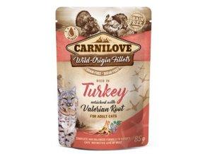Carnilove kuře a krůta s kozlíkem - kapsička pro kočky 85 g