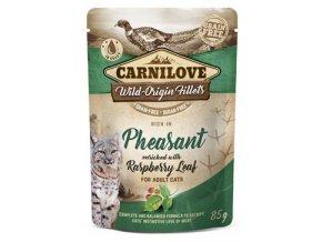 Carnilove kuře a bažant s listy malin - kapsička pro kočky 85 g