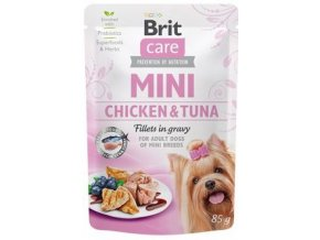Brit Care Dog Mini Chicken and Tuna - kapsička pro psy 85 g
