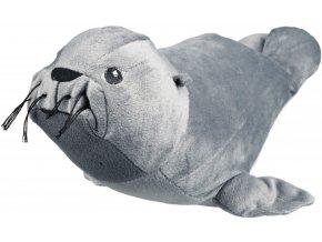 Plyšový tuleň s originálním zvukem - chrochtající 30 cm