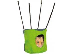 Šustivá jeskyňka pro křečka nebo myš 10x9 cm k zavěšení do klece