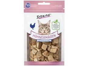 DOKAS kuřecí žaludky - mrazem sušené pamlsky pro kočky 12 g