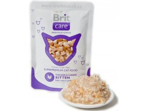 Brit Care Cat KITTEN kuře a sýr - kapsička 80 g