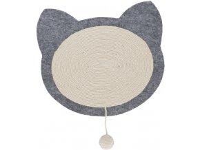 Škrábací deska kočičí hlava - barva přírodní/šedá