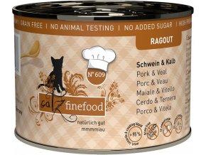 Catz Finefood Ragout vepřové a telecí - konzerva pro kočky 200 g