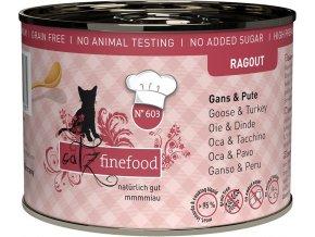 Catz Finefood Ragout husa a krůta - konzerva pro kočky 200 g