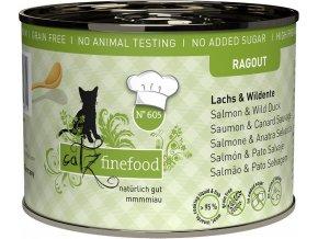 Catz Finefood Ragout losos a divoká kachna - konzerva pro kočky 200 g