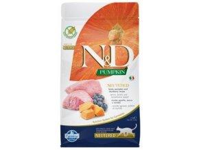 N&D Grain Free Cat PUMPKIN Neutered Lamb Blueberry 1,5 kg