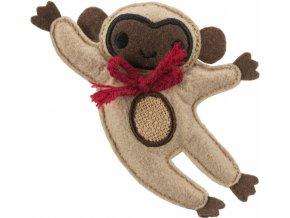 Jutový opičák s catnipem 12 cm