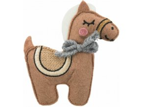 Jutový koník s catnipem 10 cm