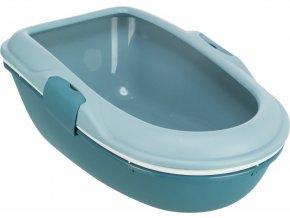Kočičí WC Berto dvojitá nádoba se sítem - petrolejové