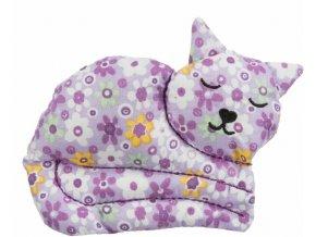 Balvněná kočička s kozlíkem - hračka pro kočky