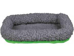 Vlněný pelíšek pro morče šedo-zelený