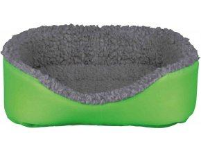 Vlněný pelíšek pro králíka šedo-zelený