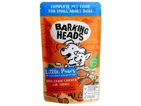 Barking Heads Little Paws Bowl Lickin Chicken Turkey - kapsička pro psy 150 g