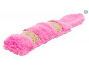 Plyšovo-jutový polštářek se šantou pro kočky 39 cm