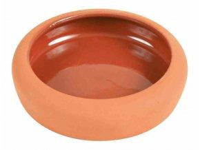 Keramická miska pro křečky oranžová 125 ml, 10 cm