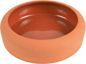 Keramická miska pro králíky oranžová 500 ml, 17 cm