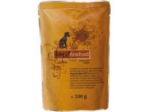Dogz Finefood 8 krůta a koza - kapsička po psy 100 g