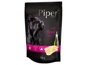 Piper s hovězími drštkami - kapsička pro psy 500 g