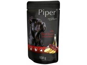 Piper s hovězími játry a bramborem - kapsička pro psy 150 g