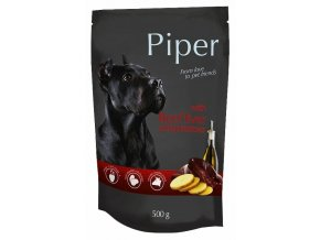 Piper s hovězími játry a bramborem - kapsička pro psy 500 g