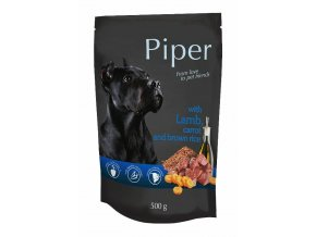 Piper s jehněčím, mrkví a rýží - kapsička pro psy 500 g