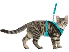 Y-postroj síťovaný s elastickým vodítkem pro kočky XL 39-60 cm