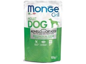 Monge Grill s jehněčím a zeleninou - kapsička pro psy 100 g