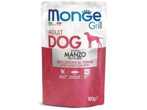 Monge Grill s hovězím masem - kapsička pro psy 100 g