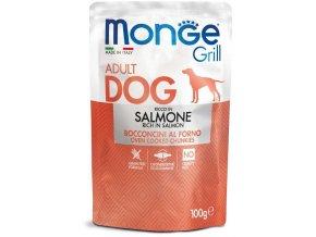 Monge Grill s lososem - kapsička pro psy 100 g