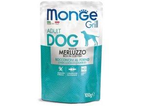 Monge Grill s treskou - kapsička pro psy 100 g
