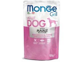 Monge Grill s vepřovým masem - kapsička pro psy 100 g