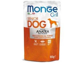 Monge Grill Senior s kachním masem - kapsička pro starší psy 100 g