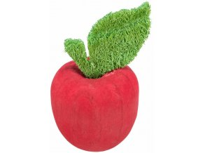 Dřevěné jablíčko s lufou - hračka pro králíky a hlodavce