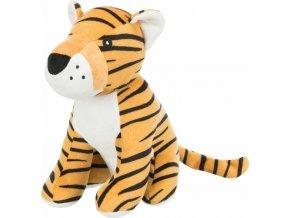 Plyšový tygr se zvukem 21 cm - hračka pro psy