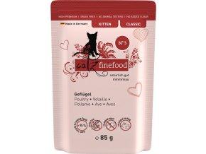 Catz Finefood Kitten 3 drůbeží a brusinky - kapsička 85 g