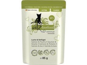 Catz Finefood Kitten 5 losos a drůbeží - kapsička 85 g