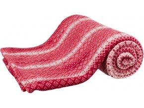 Vánoční deka LUMI 100x70 cm červeno-bílá