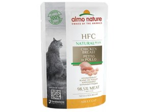 Almo Nature HFC Natural Plus kuřecí prsa - kapsička pro kočky 55 g