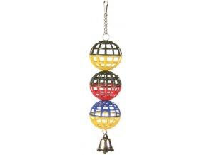 Tři koule se zvonečkem Trixie 4,5 cm