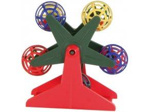 Ruské kolo na podstavci 10 cm - hračka pro ptáky