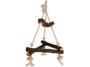 Závěsný dřevěný triangl Trixie 27x27x27 cm