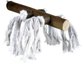Dřevěné bidýlko s bavlnou Trixie 20 cm