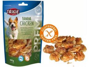 Premio Banana Chicken 100 g - pamlsky pro psy bez cukru a lepku
