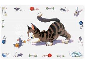 Prostírání kočka s myší